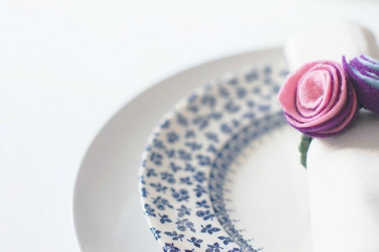 diy rose napkin ring