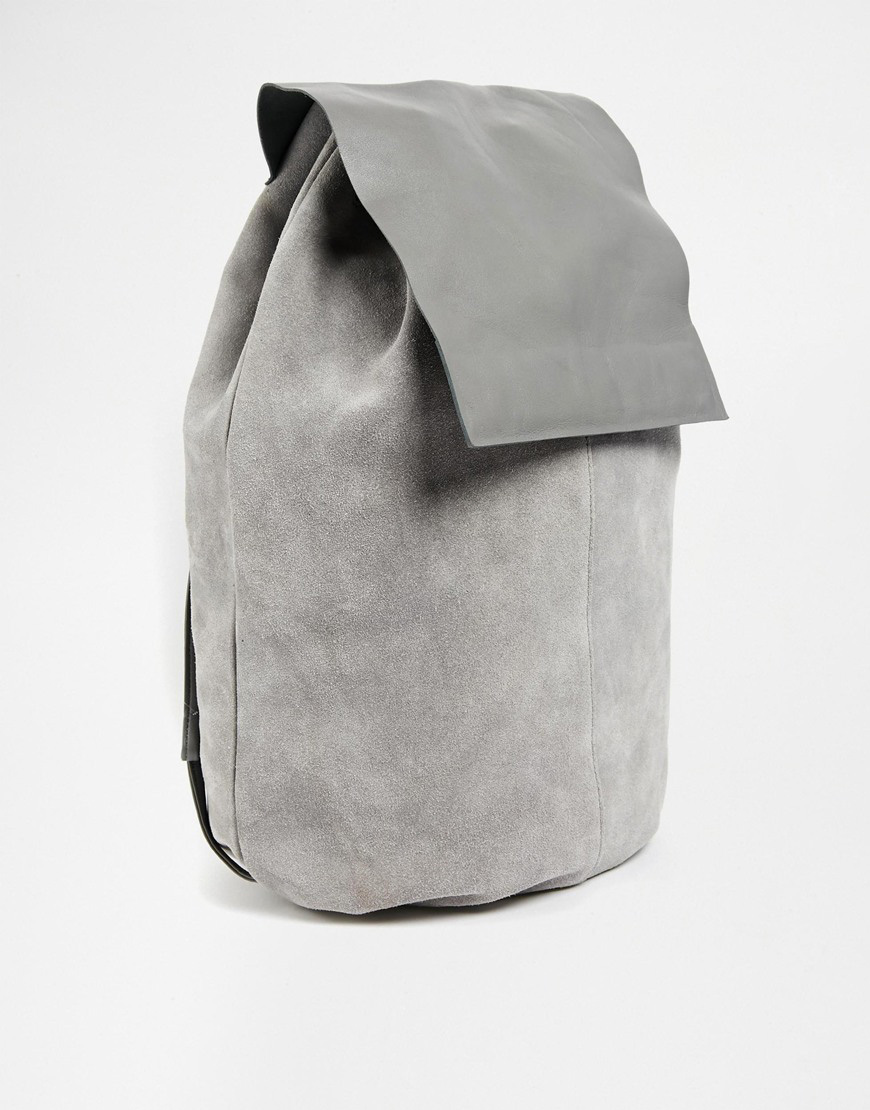 2. asos-leather-minimal-backpack