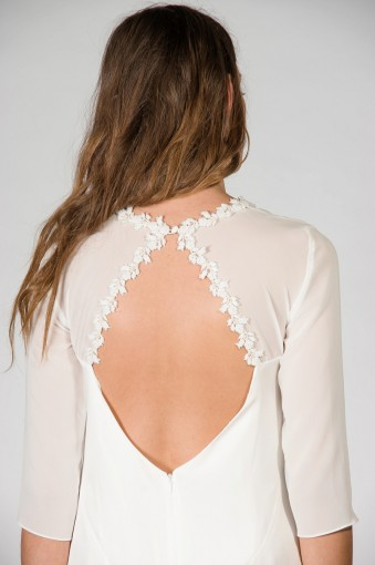 bohemian wedding dress open back