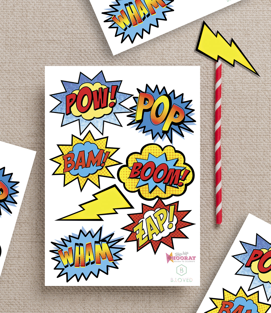 photograph regarding Free Printable Superhero Photo Booth Props identify Superhero celebration printables