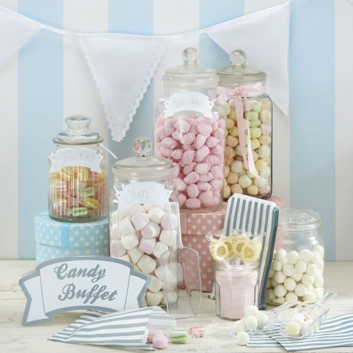 pastel candy bar decor