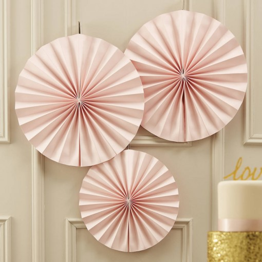 blush pink party pinwheels