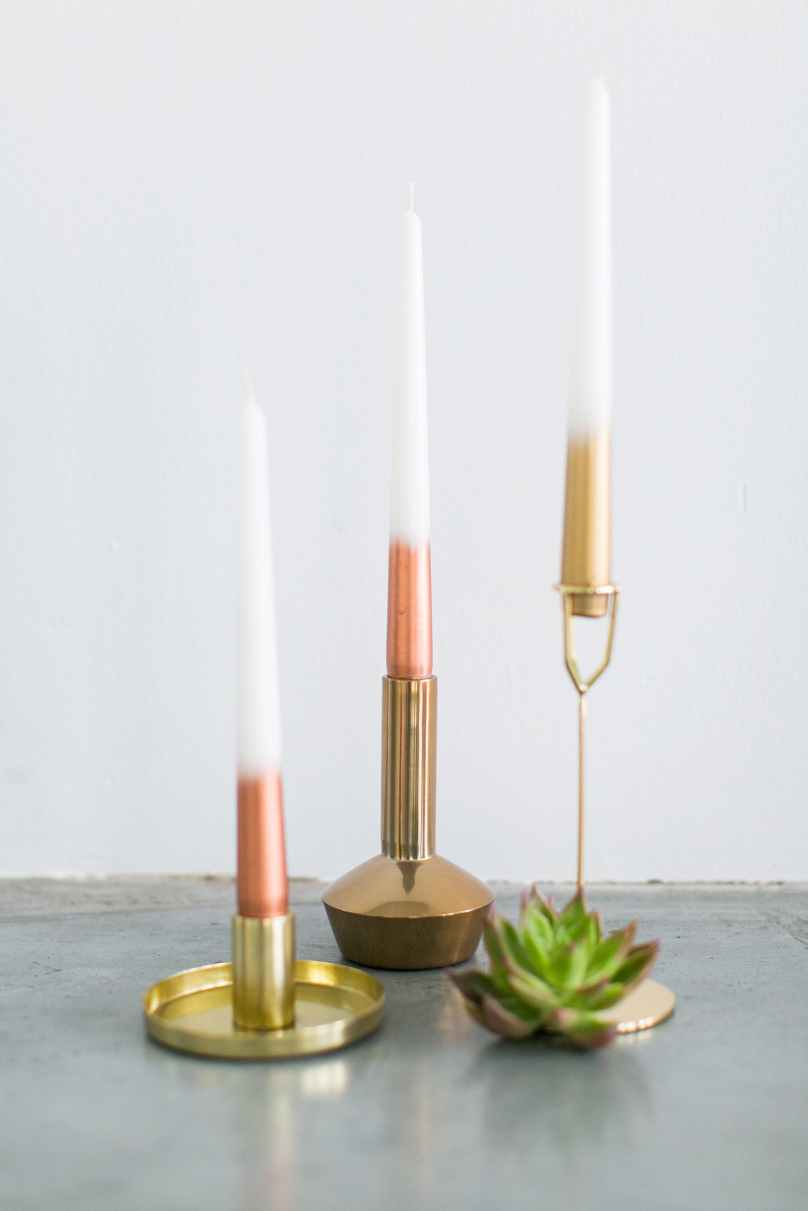 DIY Ombre Metallic Candles (9)
