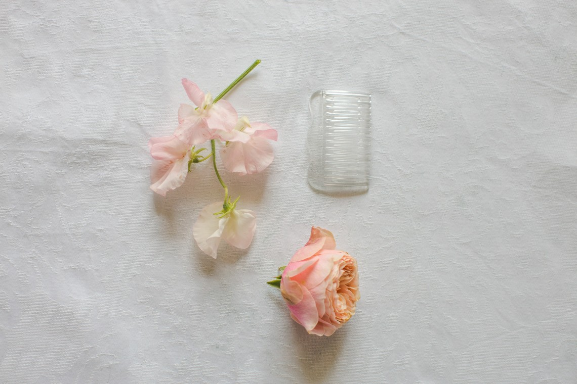 DIY Floral Rose Hair Comb  (1)