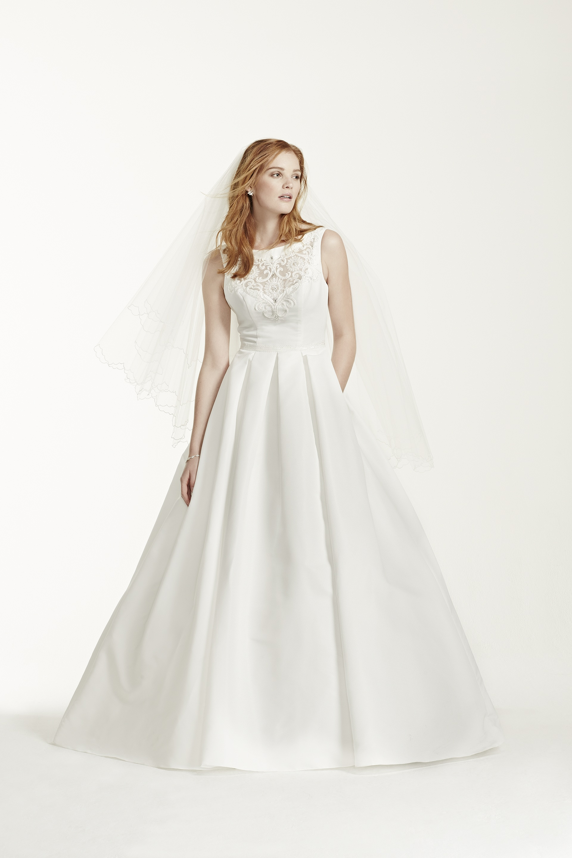 Bridalwear luxe for less with david 39 s bridal for Wedding dresses less than 300
