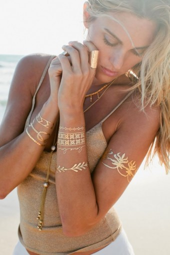 gold tatoos