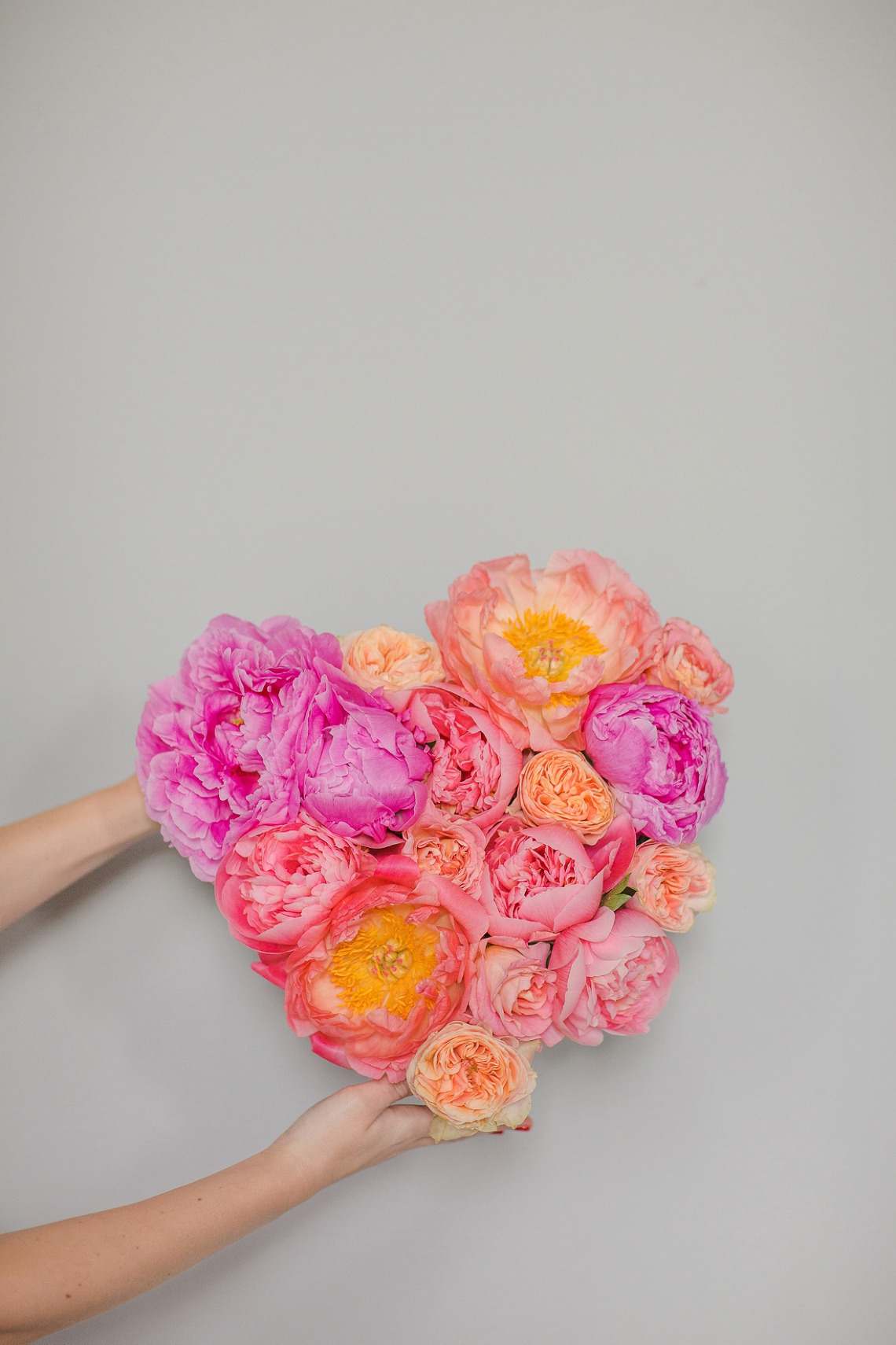 Fresh Floral Heart DIY with Roses & Peonies (12)