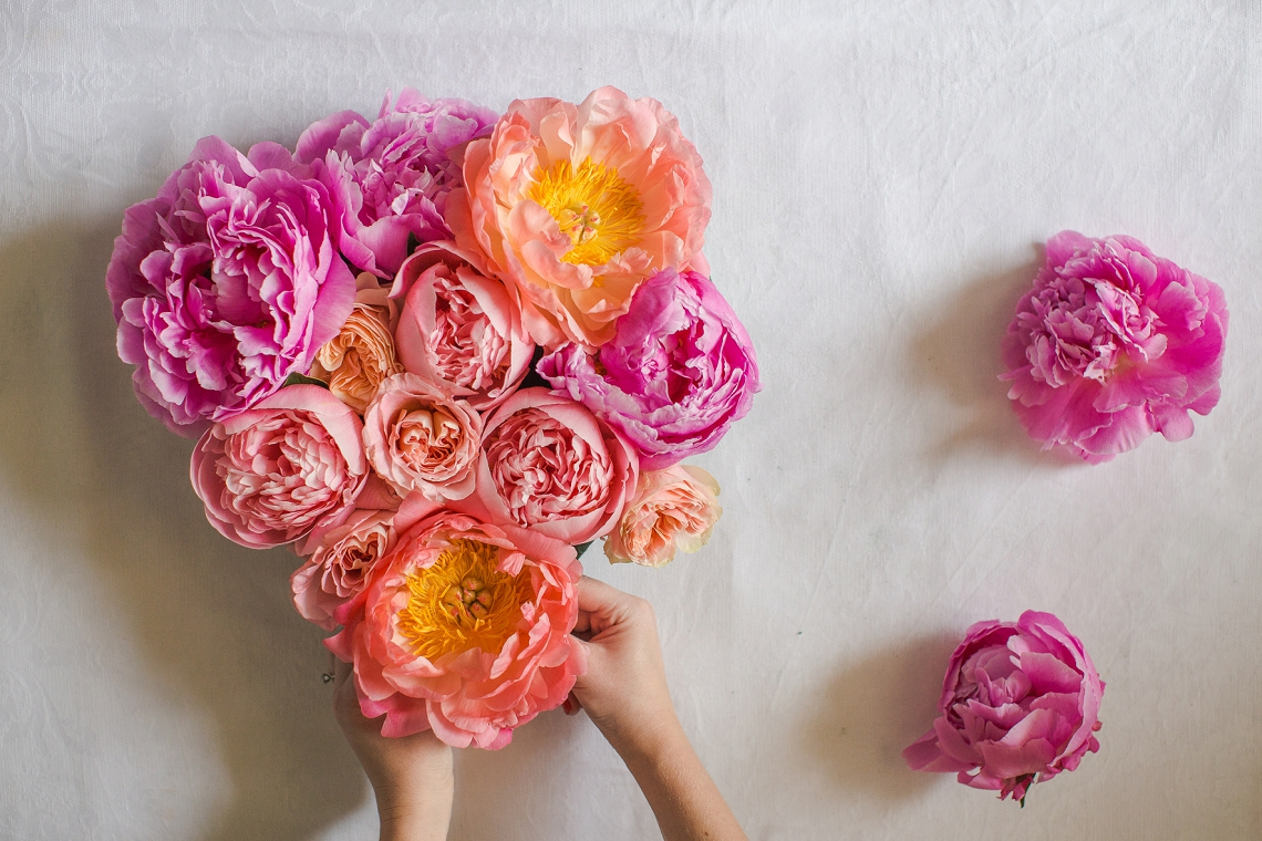Fresh Floral Heart DIY with Roses & Peonies (9)