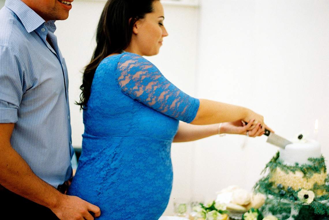 A Grown Up Blue Baby Shower