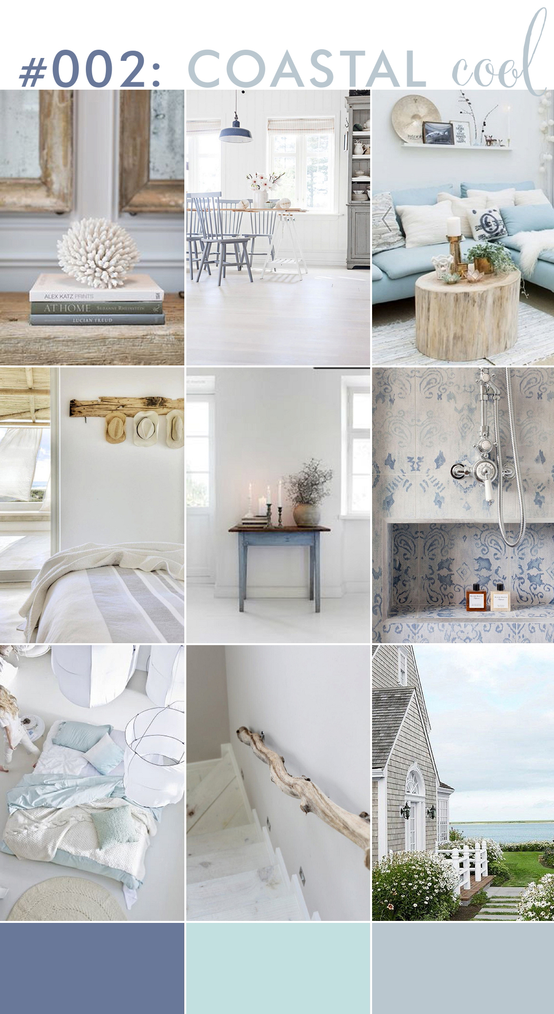 blue grey driftwood coastal home inspiration