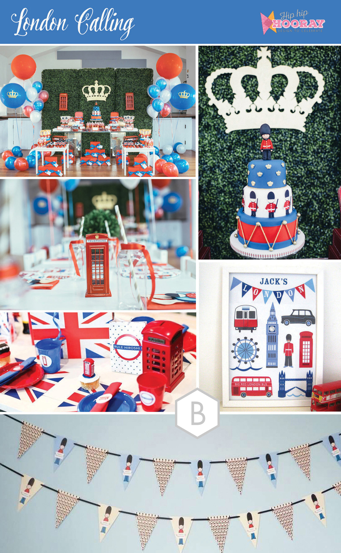 Five first birthday party ideas for London themed bathroom accessories