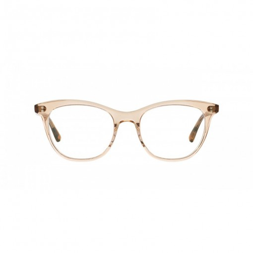 blush perspex glasses