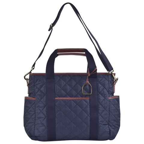 navy quilted changing bag