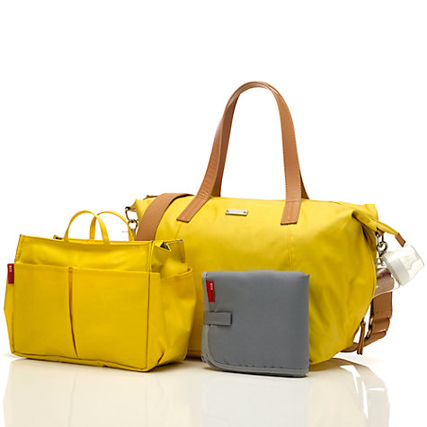 yellow changing bag