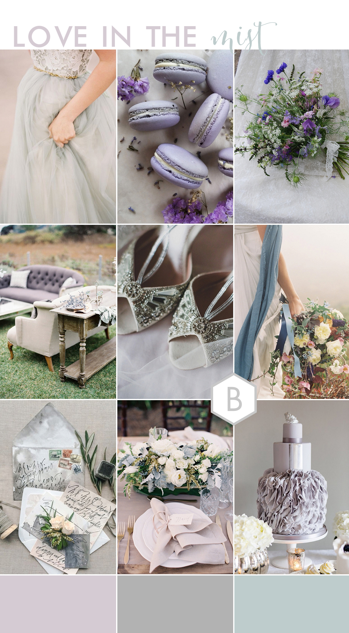 BLOVED Love in the Mist Pale Grey Wedding Inspiration by Goose & Berry
