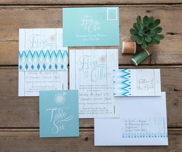 boho wedding stationery