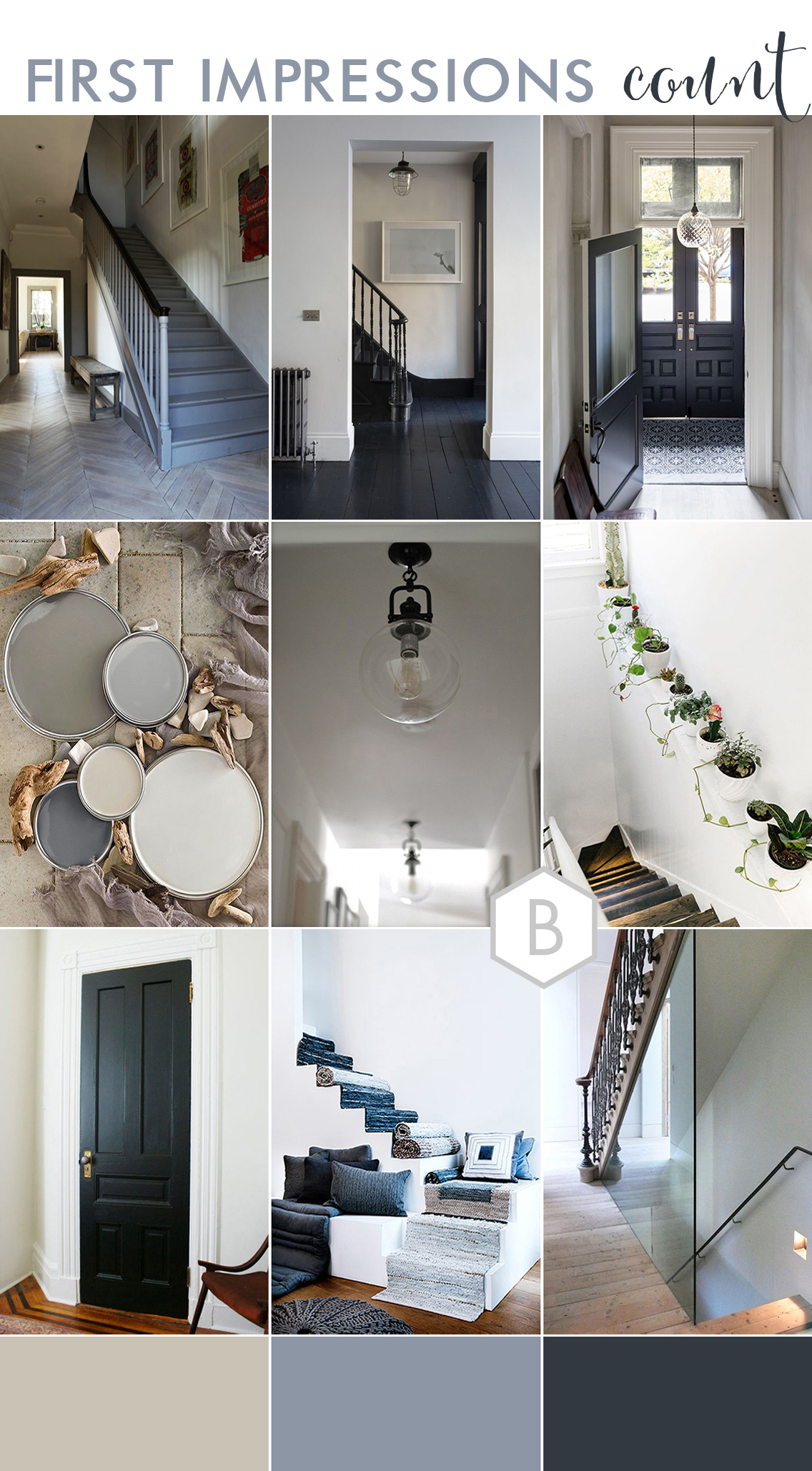 Modern Grey Hallway Decor Inspiration