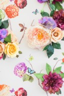 modern vintage floral wall backdrop