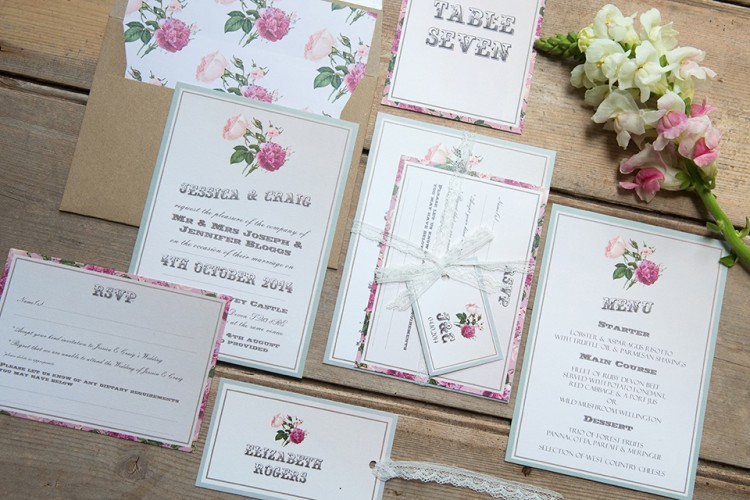 victorian inspired wedding stationery