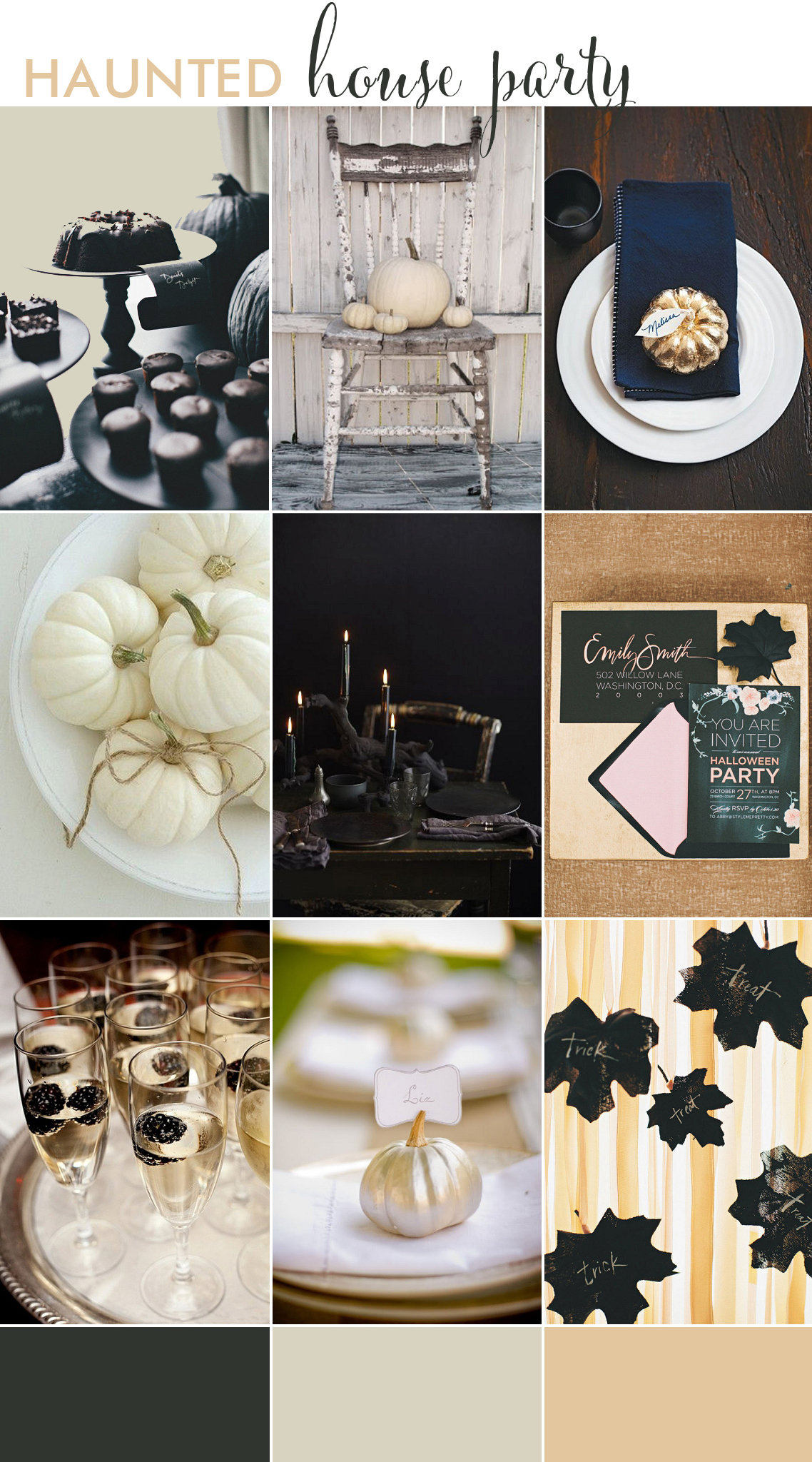haunted house dinner party inspiration