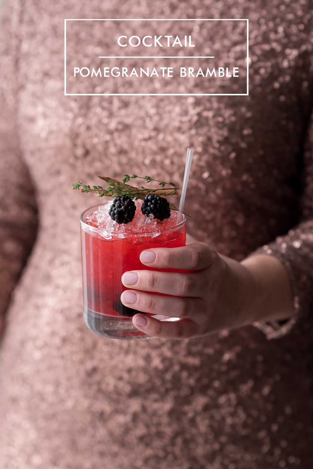 Contemporary Classic Christmas Cocktails - Pomegranate Bramble (4A)