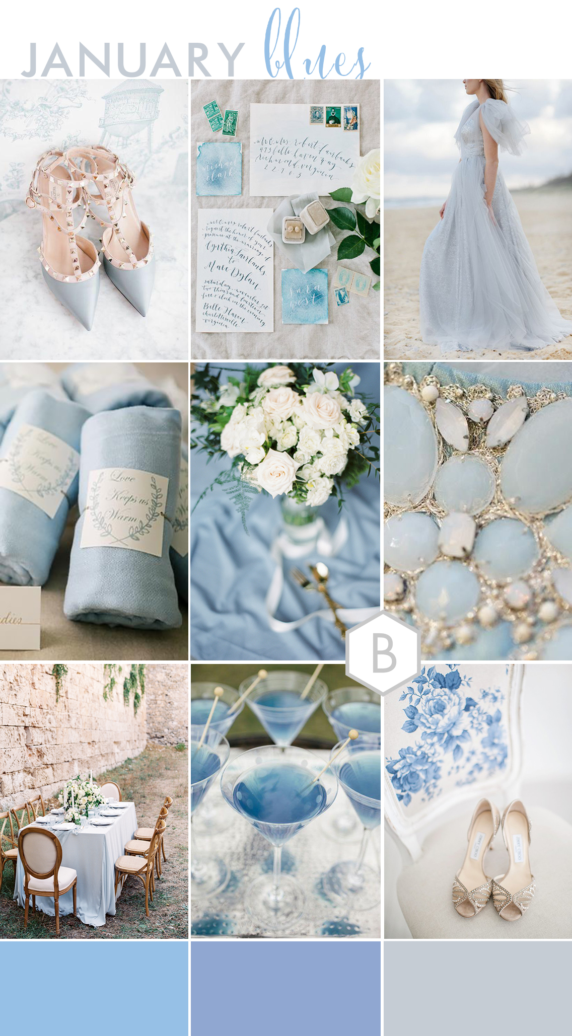 BLOVED Wedding Blog Blue Wedding Inspiration Winter Wedding