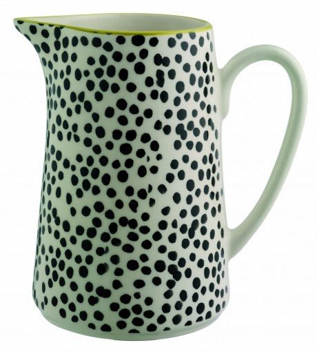Habitat Spring Summer black and white dotted polka dot jug