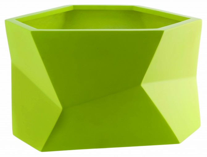 Habitat Spring Summer geometric faceted vibrant green yellow planter plant pot