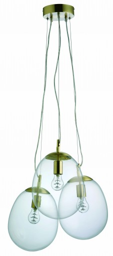 Habitat Spring Summer modern industrial brass glass edison bulb ceiling pendant light