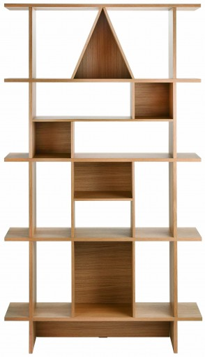 Habitat Spring Summer walnut wood book shelf shelving unit geometric