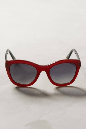 Anthropologie red Perina sunglasses