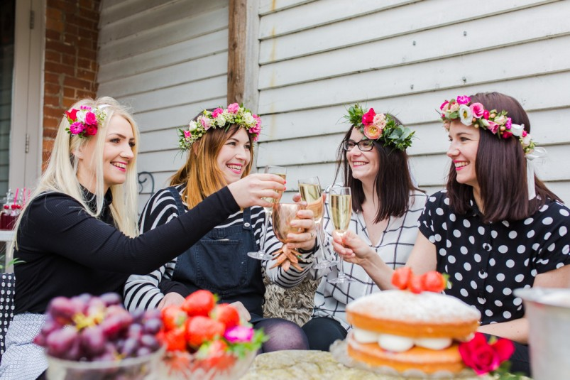 Perth Hens Party Flower Crown Work