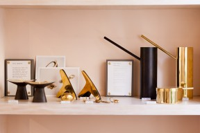 Another Country luxury interior accessories in brass and black