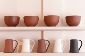 Another Country terracotta ceramic jugs and bowls