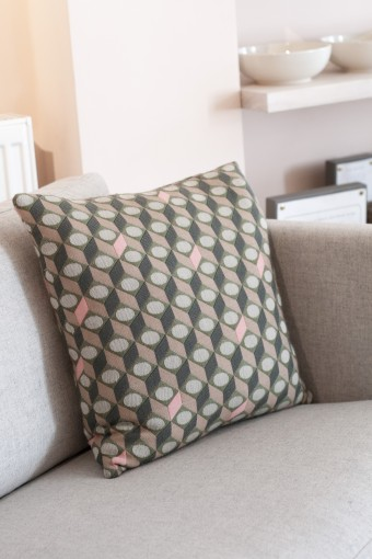 Another Country geometric cushion textile design