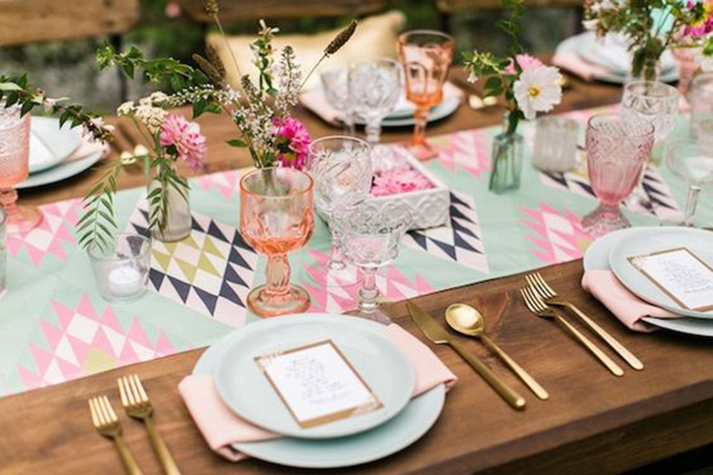 Aztec Summer Wedding Table Decor