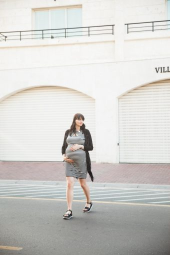 modern chic maternity session