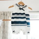 nautical stripes baby girl outfit