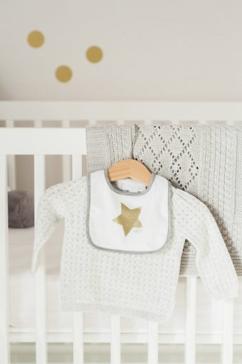 baby girl grey star outfit