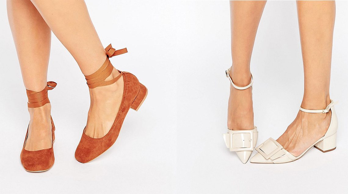 tan and cream low heeled shoes for women this autumn season