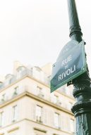 Rivoli street sign in Paris France