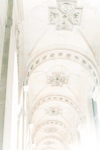 Beautiful architecture ceiling in Paris
