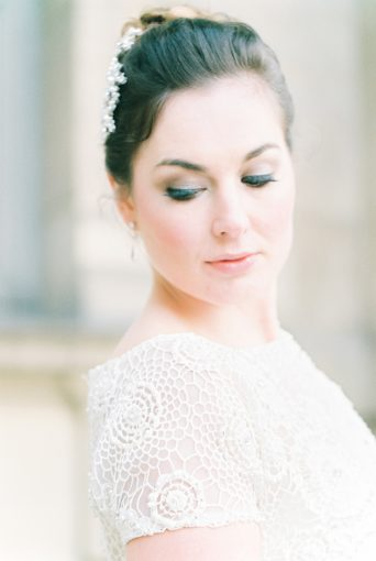 romantic bridal look