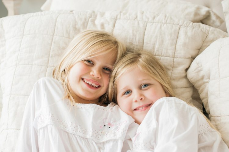 Two sisters beautiful portrait together