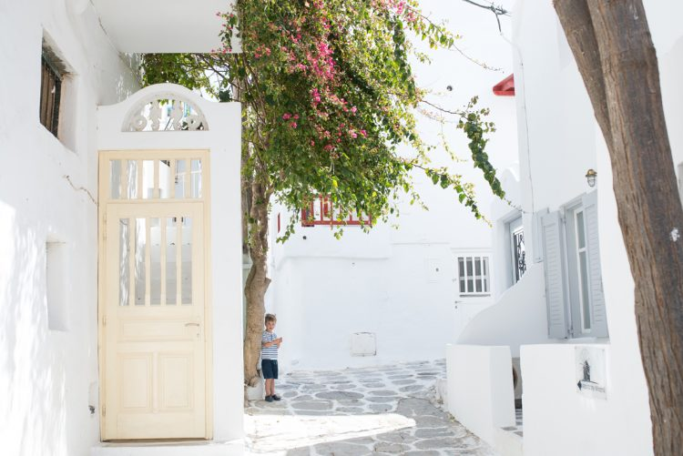 exploring the bright courtyards of the aegean islands