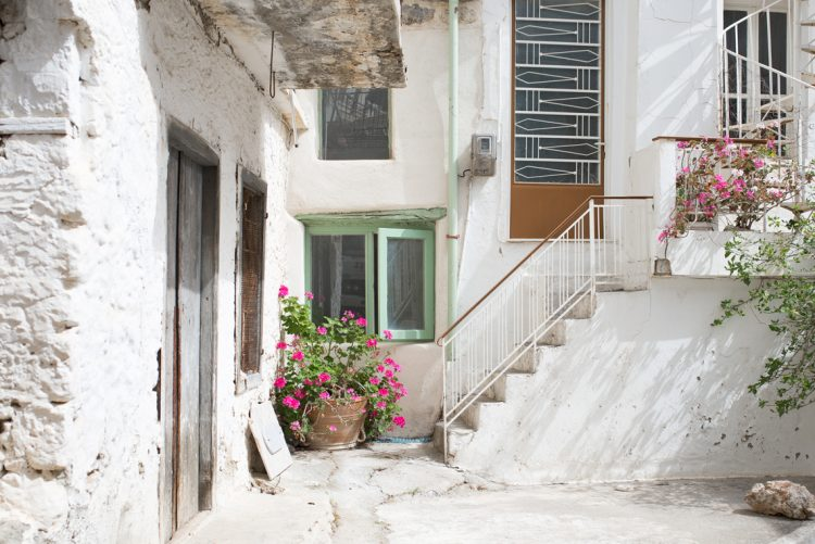 exploring the architecture and courtyards of the aegean islands