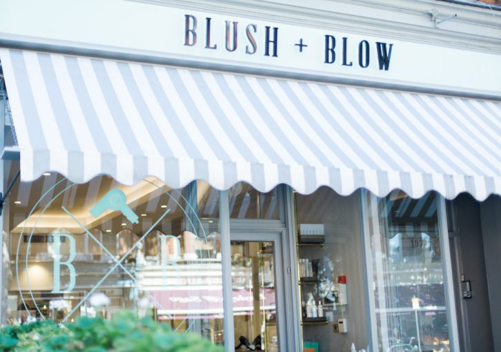 front of the Blush and Blow Salon SW6 in London