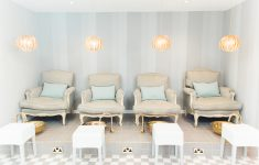 the relaxing pedicure area at blush and blow london