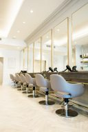 the hair dressing area of the blush and blow london salon
