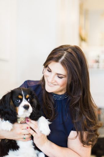 Bridget O'Keeffee and her adorable pet dog King Charles Spaniel